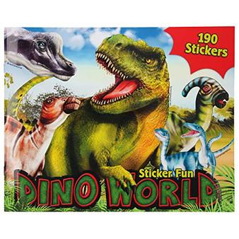 Depesche 11160 Colouring Book Stickerfun, Dino World, with Sticker Sheets