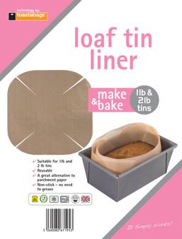 Toastabags Reusable 1lb & 2lb Non-Stick Loaf Tin Liner