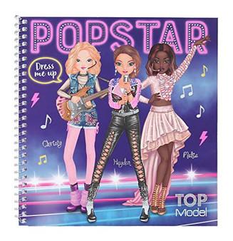TopModel 11452 Pop Star Sticker Book Dress Me Up