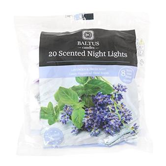 Baltus Candles - Pack of 20 Tealights - Lavender & Fresh Mint Fragrance