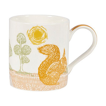 Churchill Woodcut Squirrel Mug in Gift Box