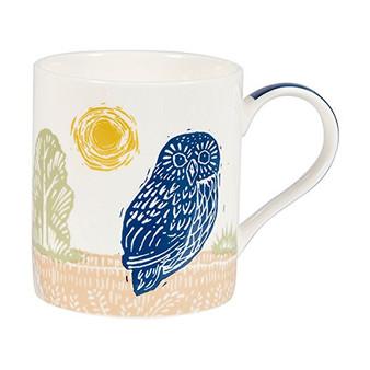 Churchill Woodcut Owl Mug in Gift Box
