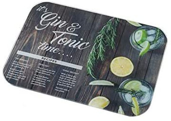 Stow Green 'Gin & Tonic' Time Glass Worktop Saver / Surface Protector (40cm X 30cm)