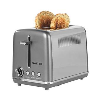 Salter EK4326GUNMETAL 2-Slice Cosmos Toaster - 870 W - Gunmetal