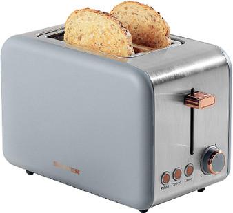 Salter® EK2652GRG 2-Slice Toaster with Wide Slots | 850 W | Grey/Rose Gold