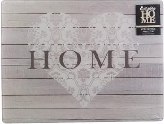 Creative Tops 'Heart Home' Glass Worktop Saver / Surface Protector (40cm X 30cm)