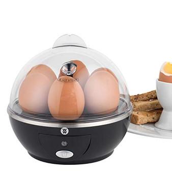 WW® EK3008WW Electric Boiled/Poached Egg Cooker, 360 W, Black