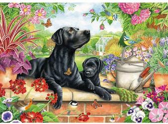 75824 JIGSAW 1000 PIECE RECTANGULAR - Black Labrador & Pup