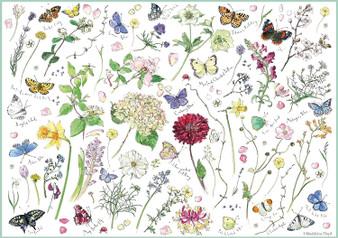 1000 PIECE RECTANGULAR JIGSAW- MADELEINE FLOWERS & BUTTERFLIES