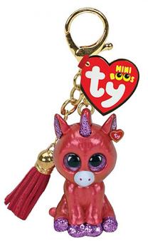Ty - Mini Boo Key ring - Sunset Unicorn