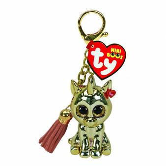 Ty - Mini Boo Key ring - Golden Unicorn