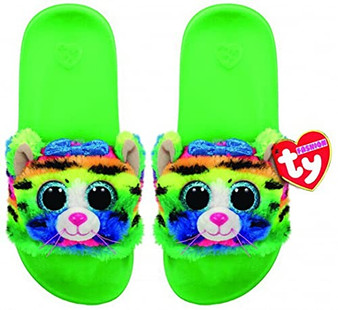 TY Beanie Boo Sliders - Tigerly the Cat - Large - UK 4 - Eur 36-38 (23.2cm)