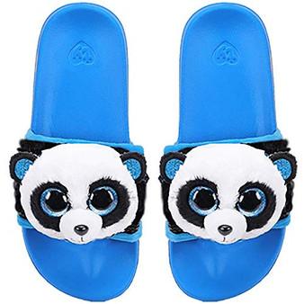 TY Beanie Boo Sliders - Bamboo the Panda - Large - UK 4 - Eur 36-38 (23.2cm)