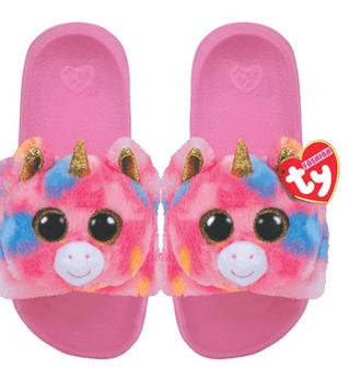 TY Beanie Boo Sliders - Fantasia the Unicorn - Large - UK 4 - Eur 36-38 (23.2cm)