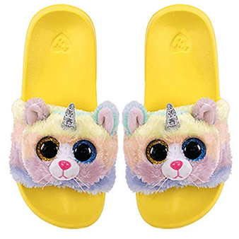 TY Beanie Boo Sliders - Heather the Cat - Large - UK 4 - Eur 36-38 (23.2cm)