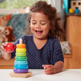 Rainbow Stacker Classic Wooden Toy
