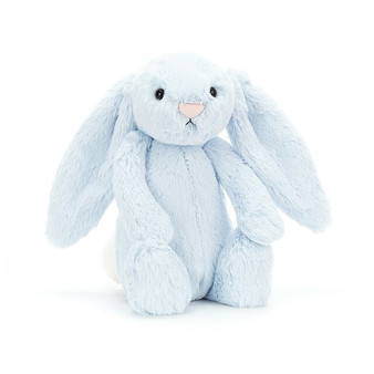 Jellycat Medium Bashful Blue Bunny Soft Toy