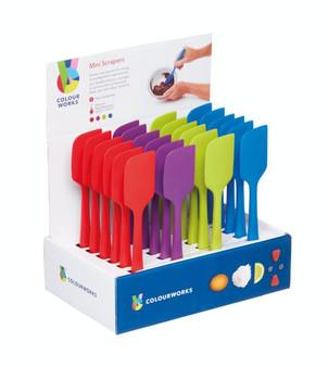 Kitchenkraft Colourworks Silicone Mini Spoon Spatulas / Mini Scraper