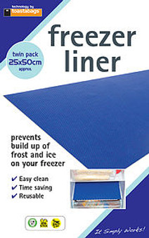 Toastabgs Freezer Liners - 2 Pack - Prevents build up of frost and ice on your freezer (25cm X 50cm)