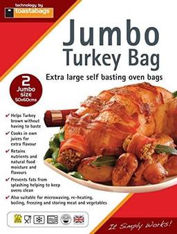 Toastabags Jumbo Turkey bags X 2 - extra large self basting (50cm X 60cm)