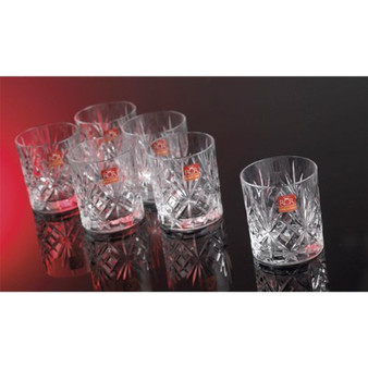 Set of 6 RCR Melodia Crystal Whiskey Glasses / Tumblers