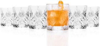 Set of 6 RCR Melodia Crystal Whiskey Glasses / Tumblers - 230ml