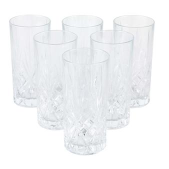 Set of 6 RCR Melodia Crystal Highball Glasses