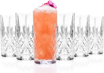 Set of 6 RCR Melodia Crystal Highball Glasses - 350ml