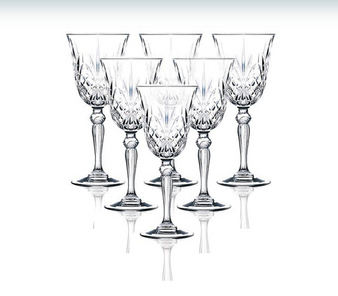 Set of 6 RCR Melodia Crystal Wine Glasses