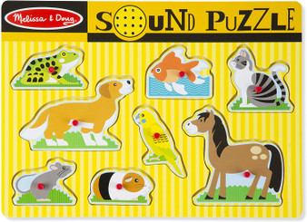 Melissa & Doug Pets Sound Puzzle | Puzzles | Wood | 2+ | Gift for Boy or Girl