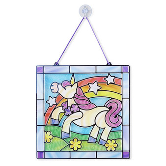 19299 Stained Glass - Unicorn