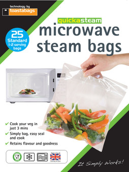 Toastabags Microwave Steam Bags - 25 Pack