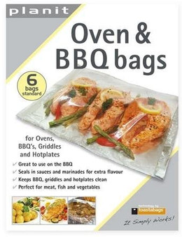 Toastabags Oven & BBQ Bags - 6 pack (19cm x 30cm)