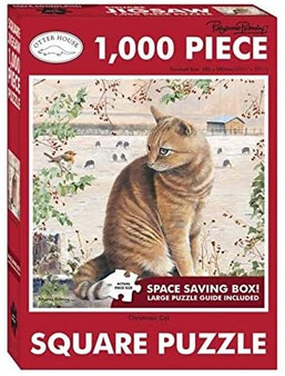 74139 JIGSAW SQUARE - CHRISTMAS CAT (P)