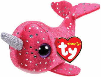 TY Nelly the Pink NARWHAL Teeny TY