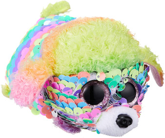 TY Rainbow the Poodle Flippable Teeny TY
