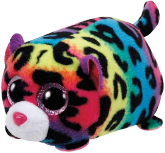TY Jelly the Multi Coloured Leopard Teeny TY
