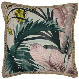 furn Amazonia Pink polyester Filled Cushion - 50cm X 50cm