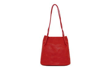 Women's RED shoulder hobo bag / sack / handbag with Handle and Soft faux Leather   ladies shopper   L&S6773