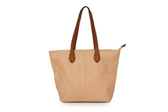 Women's KHAKI shoulder tote handbag with Handle and Soft faux Leather   ladies shopper   L&S288-1