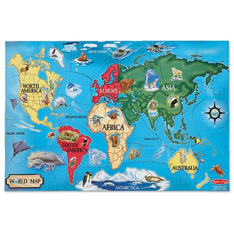 World Map Giant Floor Puzzle - 33 Piece