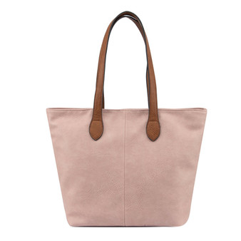 Women's PINK shoulder tote handbag with Handle and Soft faux Leather   ladies shopper   GES-G1145