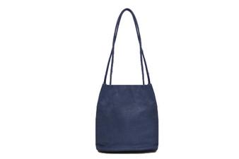 Women's NAVY BLUE shoulder hobo bag / sack / handbag with Handle and Soft faux Leather   ladies shopper   L&S6773