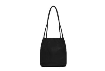 Women's BLACK shoulder hobo bag / sack / handbag with Handle and Soft faux Leather | ladies shopper | L&S6773