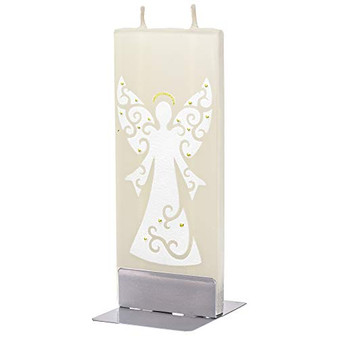 Flatyz Twin Wick Hand Painted Flat Candle - Angel Gold