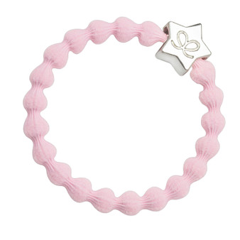 By Eloise Hair Bobble / Band & Bracelet - Soft Pink Band - Silver Star - S-2-019