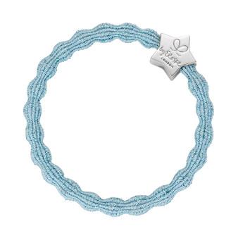 By Eloise Hair Bobble / Band & Bracelet - Light Blue Band - Metallic Silver Star - MS-2-072