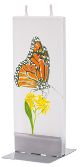 Handmade Flatyz Candle - Monarch Butterfly On Flower Candle - D20039