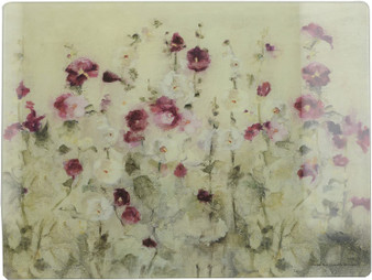 Creative Tops 'Wild Field Poppies' Glass Worktop Saver / Surface Protector (40cm X 30cm)