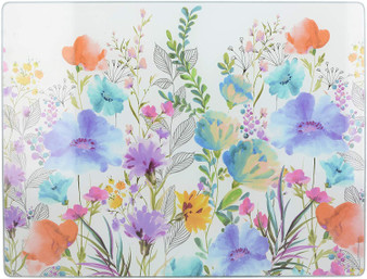 Creative Tops 'Meadow Floral' Glass Worktop Saver / Surface Protector (40cm X 30cm)
